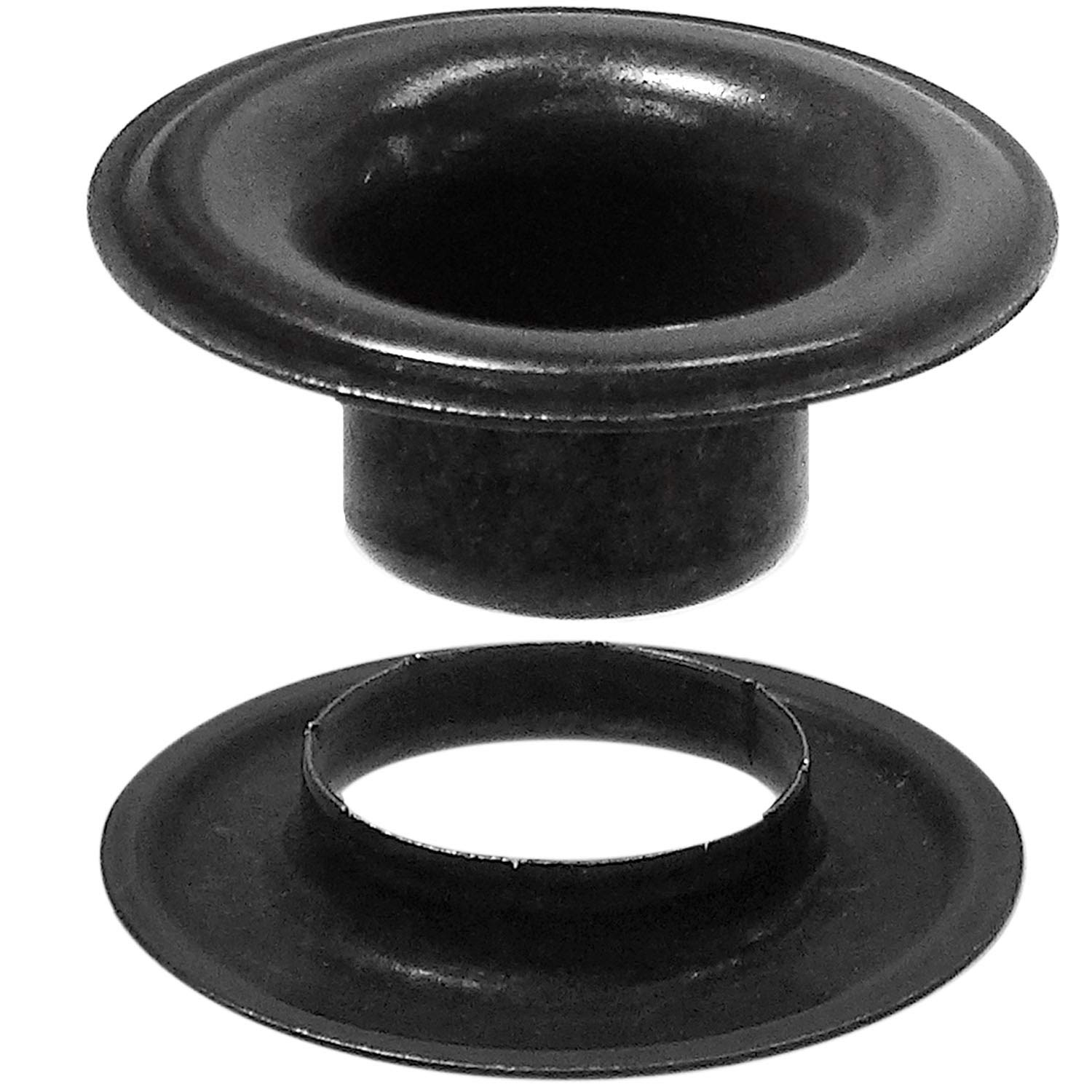 Stimpson Sheet Metal Grommet and Neck Washer Dull Black Chem Durable, Reliable, Heavy-Duty #4 Set (3,600 Pieces of Each)