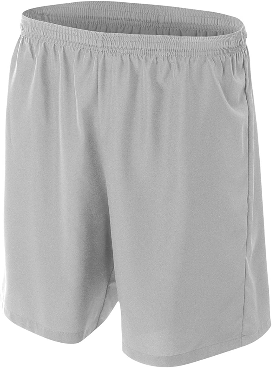 Silver/Grey Adult XL 100% Polyester Woven Soccer Shorts : Clothing