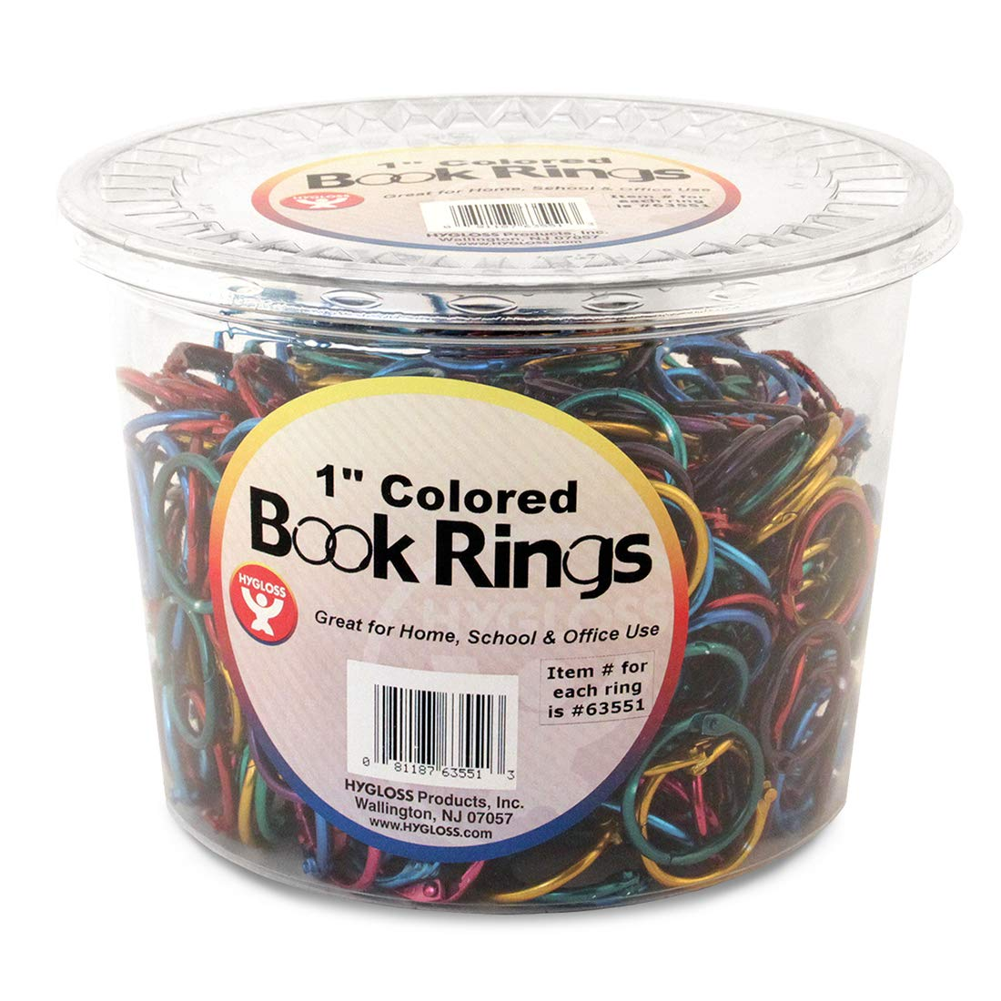 Hygloss Products, Inc Products Book Rings, 1 inch, Assorted Colors by Hygloss