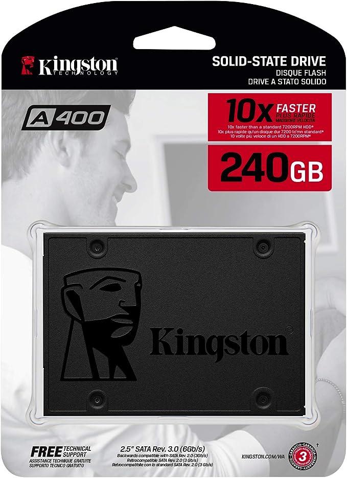 Kingston A400 SSD SA400S37/240G - Disco duro sólido interno 2.5 ...