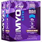 EAS Myoplex Lite Protein Shake Mix Packets, Chocolate Cream, 1.9 oz packets, 20 servings