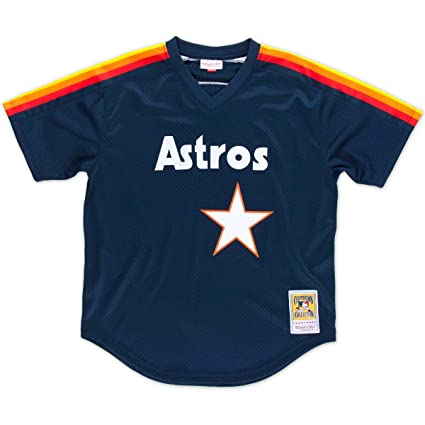 79900750 Nolan Ryan Houston Astros #34 Men's Mitchell & Ness 1988 Authentic Mesh  Batting Practice Jersey