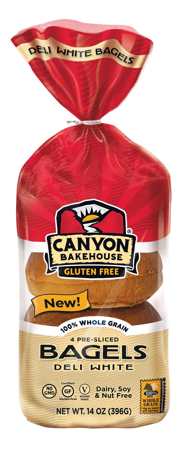 Canyon Bakehouse Gluten-Free Presliced Deli White Bagels