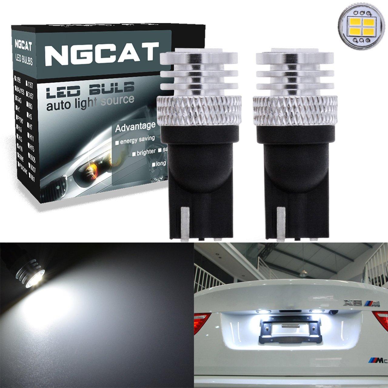 Ngcat 1800 lumen 4 SMD 3020 CREE T10 168 2825 lampadine LED utilizzato per automobile interior cuneo cupola luci di lettura luce esterna laterale lampadine luci targa, DC 10 –  16 V Xenon bianco (