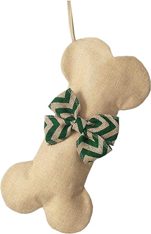 Extra Large Cotton Christmas Stocking Dog Bone Holidays Gingham Dog Bone for Pets Christmas Ornament #2 Heart-16 inches x 9 inches Beyond Your Thoughts