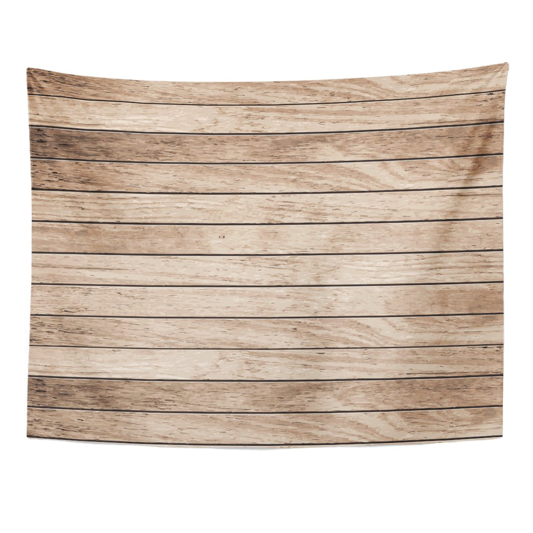 Emvency Tapestry Brown Wooden Wood Plank Floor Table Home Decor Wall Hanging for Living Room Bedroom Dorm 60x80 inches