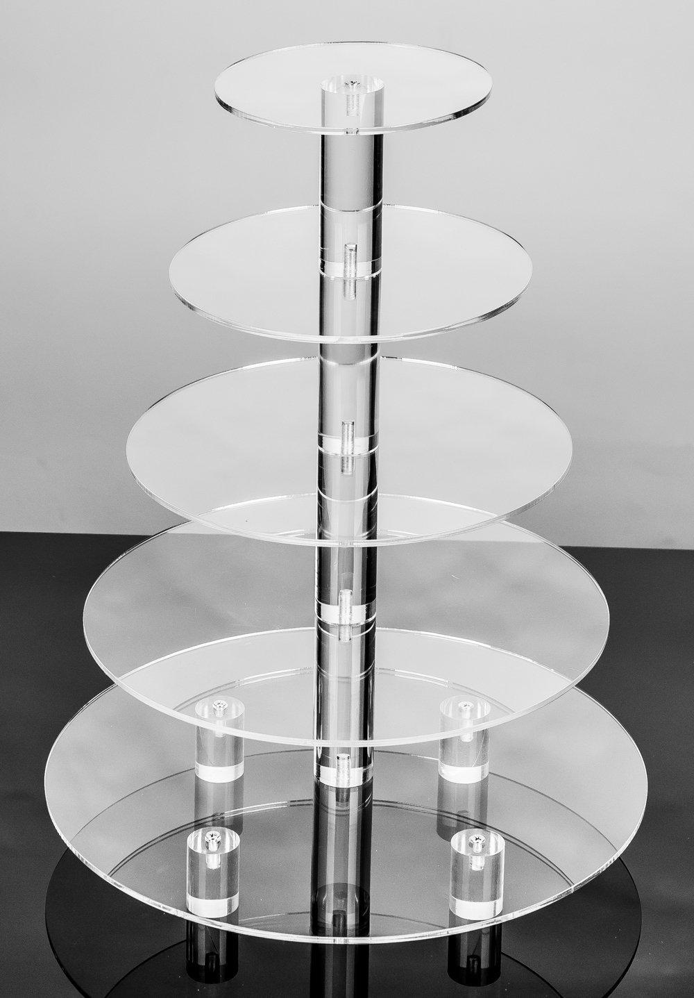 Amazon.com | Jusalpha Large 5-Tier Acrylic Round Wedding Cake Stand ...