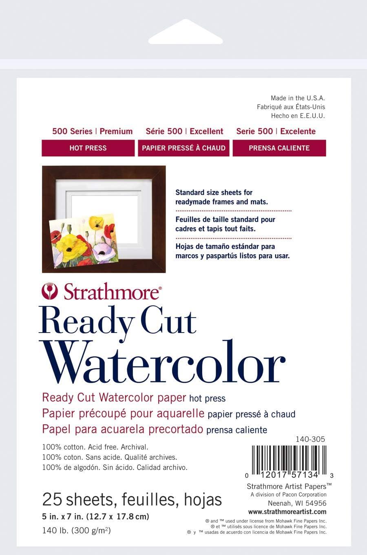 25 Blatt 5 x 7 Mehrfarbig Strathmore 140-305 Ready Cut WC 5 x 7 PS Mehrfarbig 12,7 x 17,8 cm