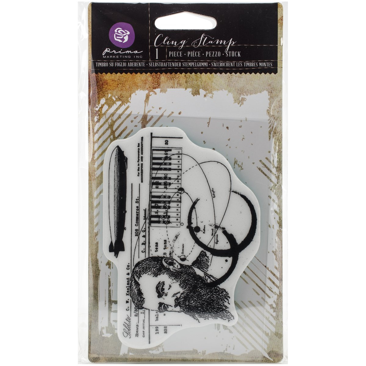 Prima Marketing Cling Stamp 3.5'X5'-State of Art 580094