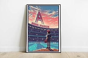"Los Andeles Angels Basketball Team Poster Angel Stadium of Anaheim Art Poster Unframed Wall Art Print Poster Canvas Decor Size - 11""x17"" 18""x24"" 24""x32"" 24""x36"" (S - 11""x17"" (28x43cm))"