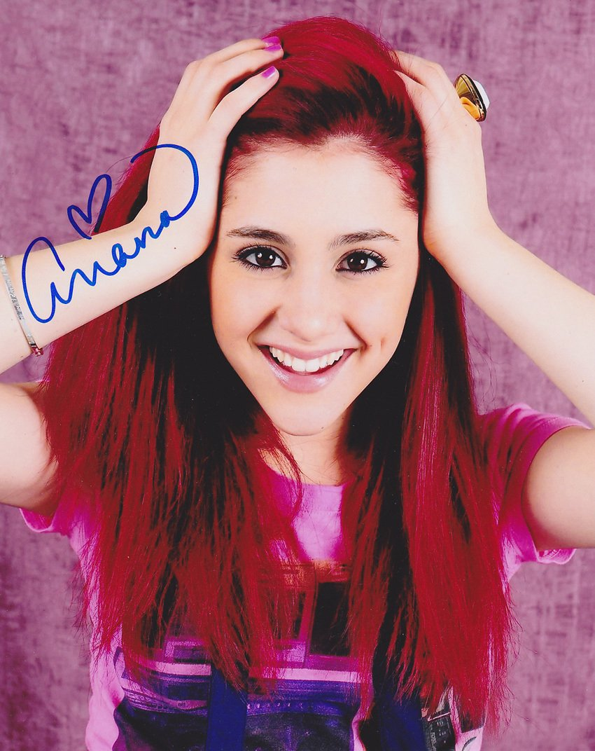 Schön Ariana Grande As Cat Valentine Victorious 8x10 Reprint Signed Photo #1 RP  At Amazonu0027s Entertainment Collectibles Store