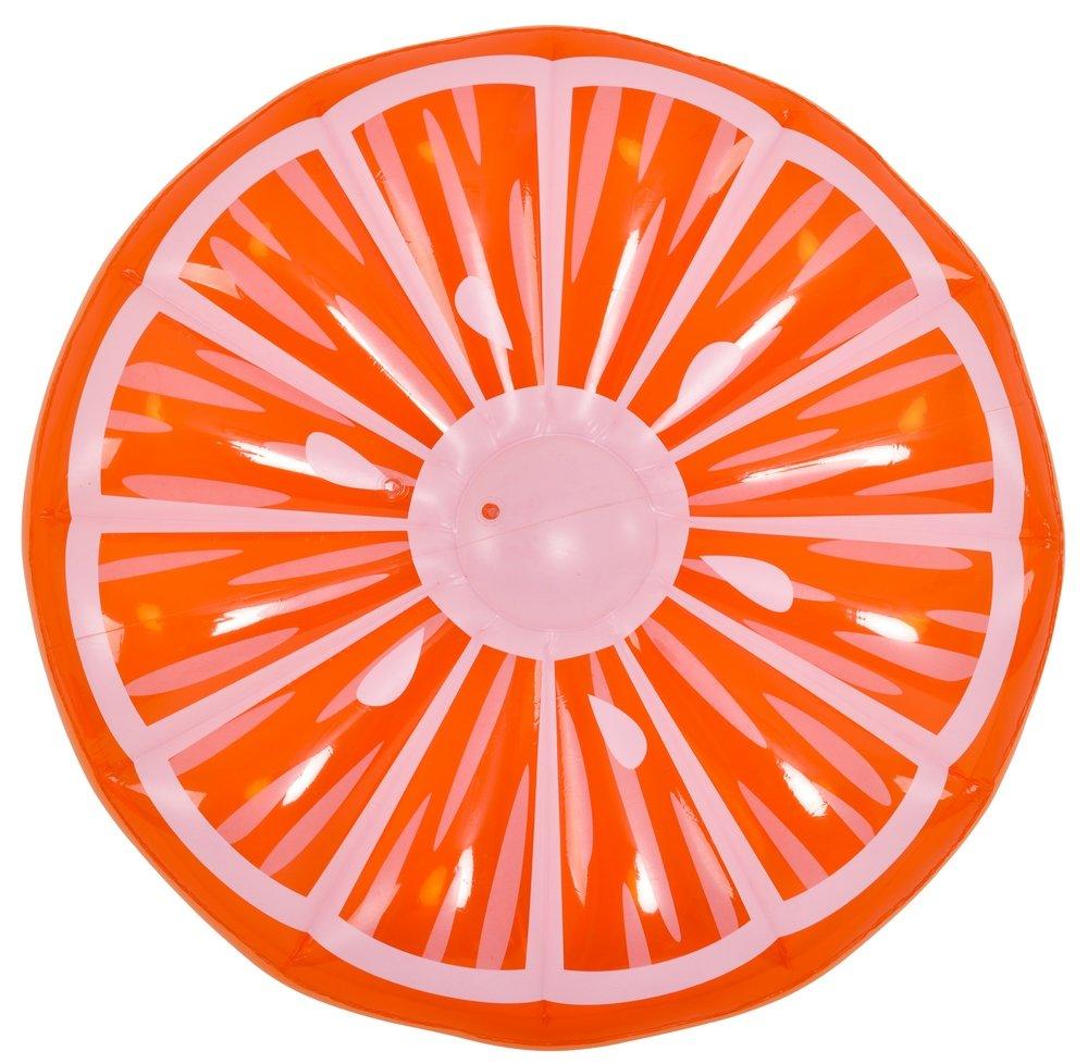JILONG- 6920388633260 Colchoneta 148Cm Hinchable Naranja, Color ...