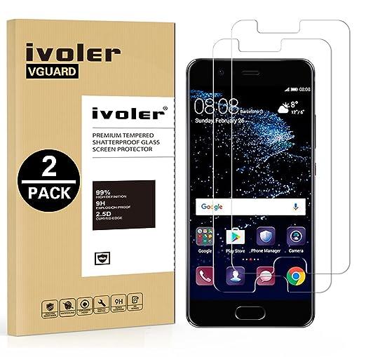 4 opinioni per [2 Pack] Pellicola Vetro Temperato Huawei P10, iVoler® ** [Protezione