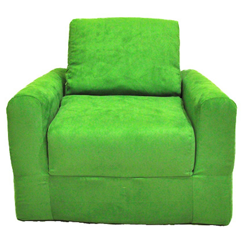 Amazon.com: Fun Furnishings Chair Sleeper, Lime Green Micro Suede: Kitchen  U0026 Dining