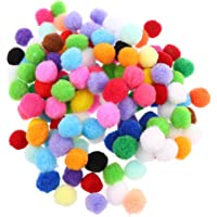 MagiDeal 100 Pieces Mixed Color Felt Balls Pompom Ball Pom Pom for DIY Sewing Crafts Jewelry Making