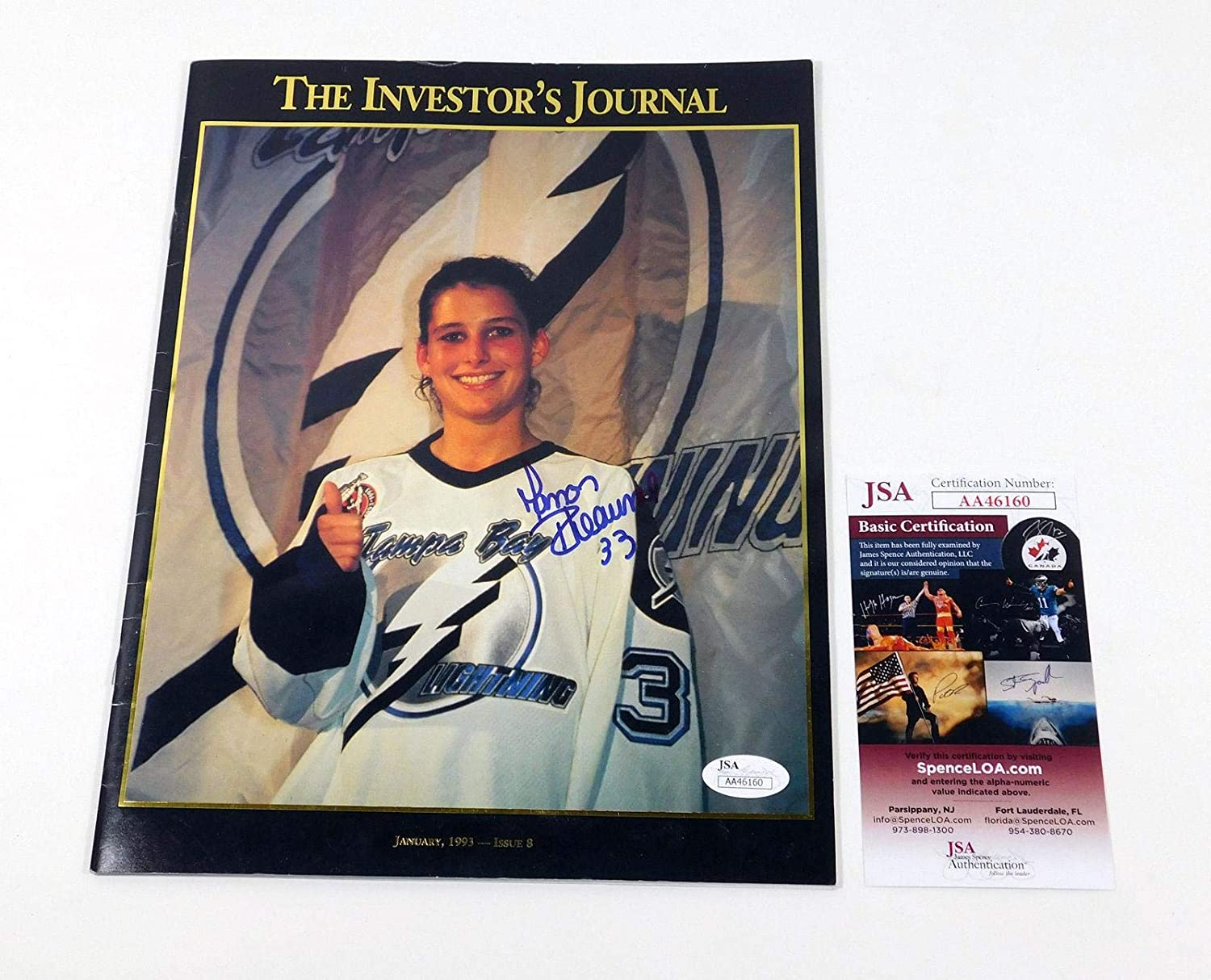 Manon Rheaume Signed The Investor s Journal Magazine Lightning Auto - JSA  Certified - Autographed Sports Magazines at Amazon s Sports Collectibles  Store 469a90843a1