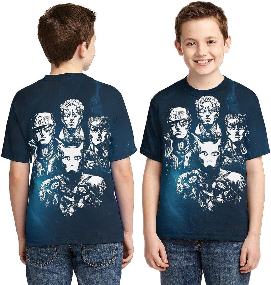 Zengqinglove Boys,Girls,Youth Jojos Bizarre Adventure T Shirts