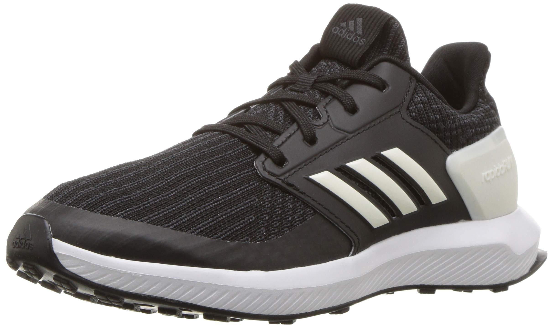 adidas Unisex RapidaRun Running Shoe, Black/Cloud White/Carbon, 11K M US Little Kid