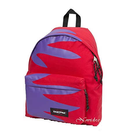 e676aa057d EASTPAK ZAINO SCUOLA PADDED PAK'R 74M DON'T LET GO RED ROSSO VIOLA ...