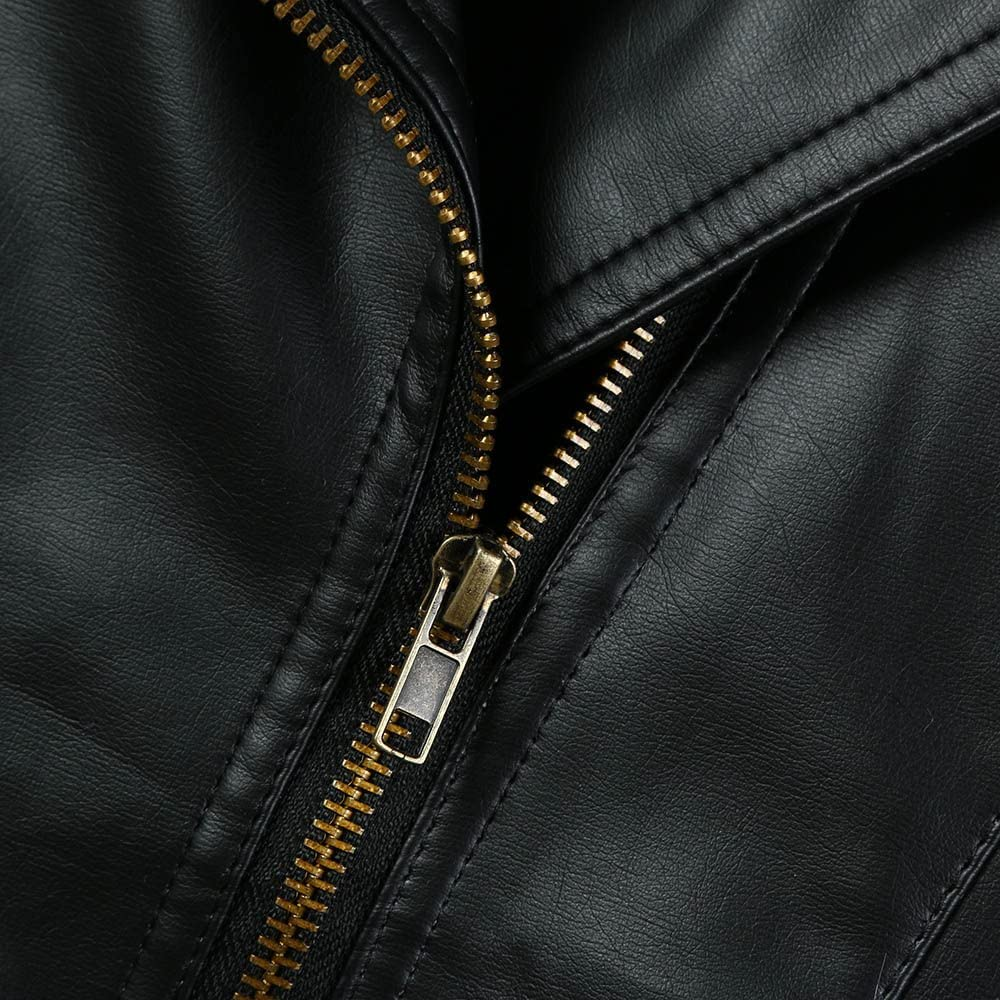 Ni/ña//Ni/ño Manga Larga Oto/ño Invierno Abrigo de Cuero Outwear Ropa de Chaqueta Corta