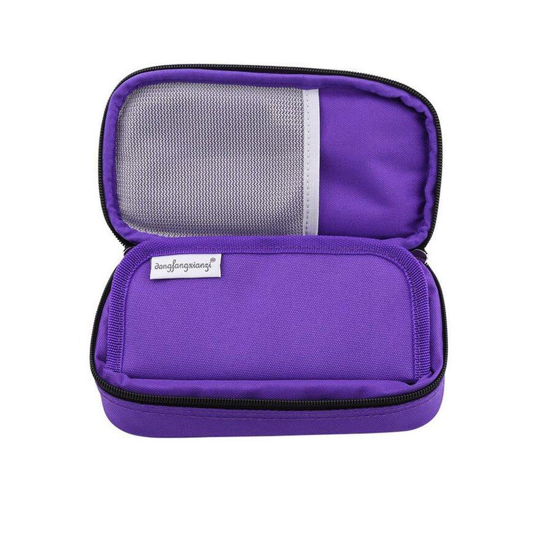 Vianber Borsa termica portatile per insulina Borsa termica per assistenza medica Custodia protettiva da viaggio per il diabetico Nero