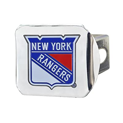 FANMATS NHL New York Rangers NHL - New York Rangerscolor Hitch - Chrome, Team Color, One Size: Sports & Outdoors