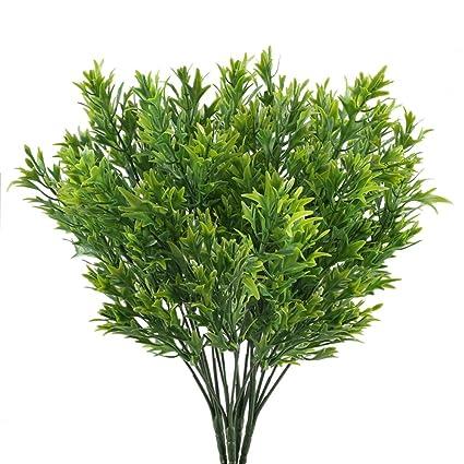 Nahuaa Plantas Verdes Exterior 4pcs Plantas De Plastico Decoracion - Plantas-verdes-exterior
