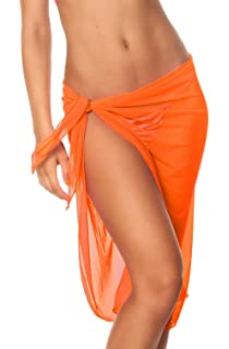 7ba5c96d3c34d Coqueta Swimwear Womens Mesh Cover up Beach Long Sarong Pareo Canga  Swimsuit Wrap