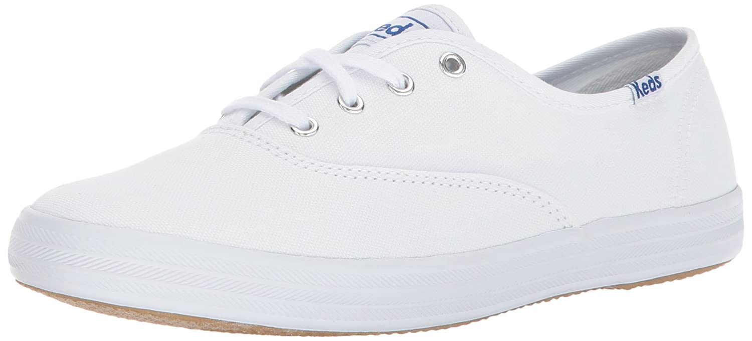 Keds Women's Champion Original Canvas Sneaker B07F6VBCKS 36.5 M EU / 6 B(M) US|White