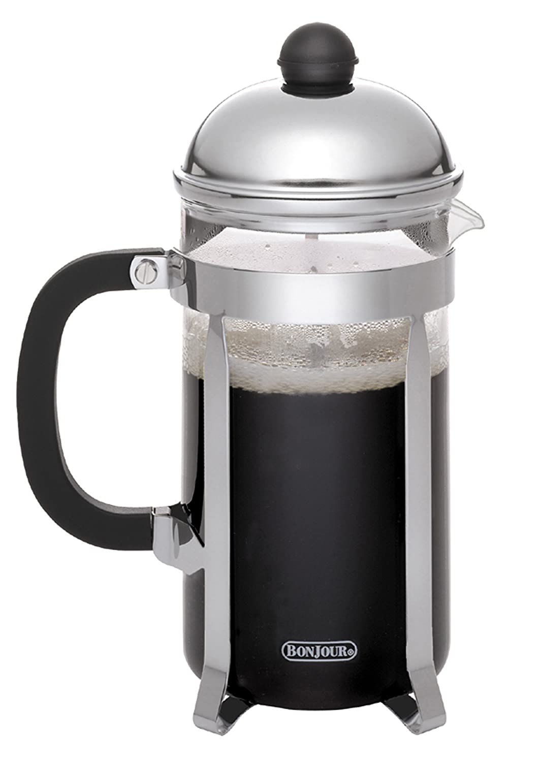 Bed bath beyond french press - Amazon Com Bonjour Coffee Stainless Steel French Press With Glass Carafe 12 7 Ounce Monet Black Handle Kitchen Dining
