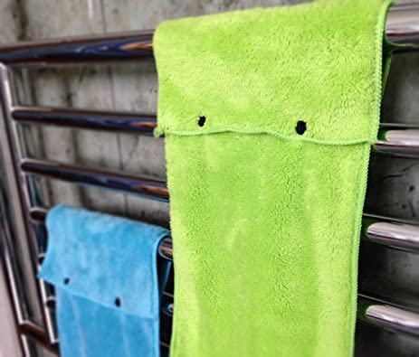 Hanging Hand Towels With Snap Fastener   Set Of 3 Lime Green, Hanging Kitchen  Hand