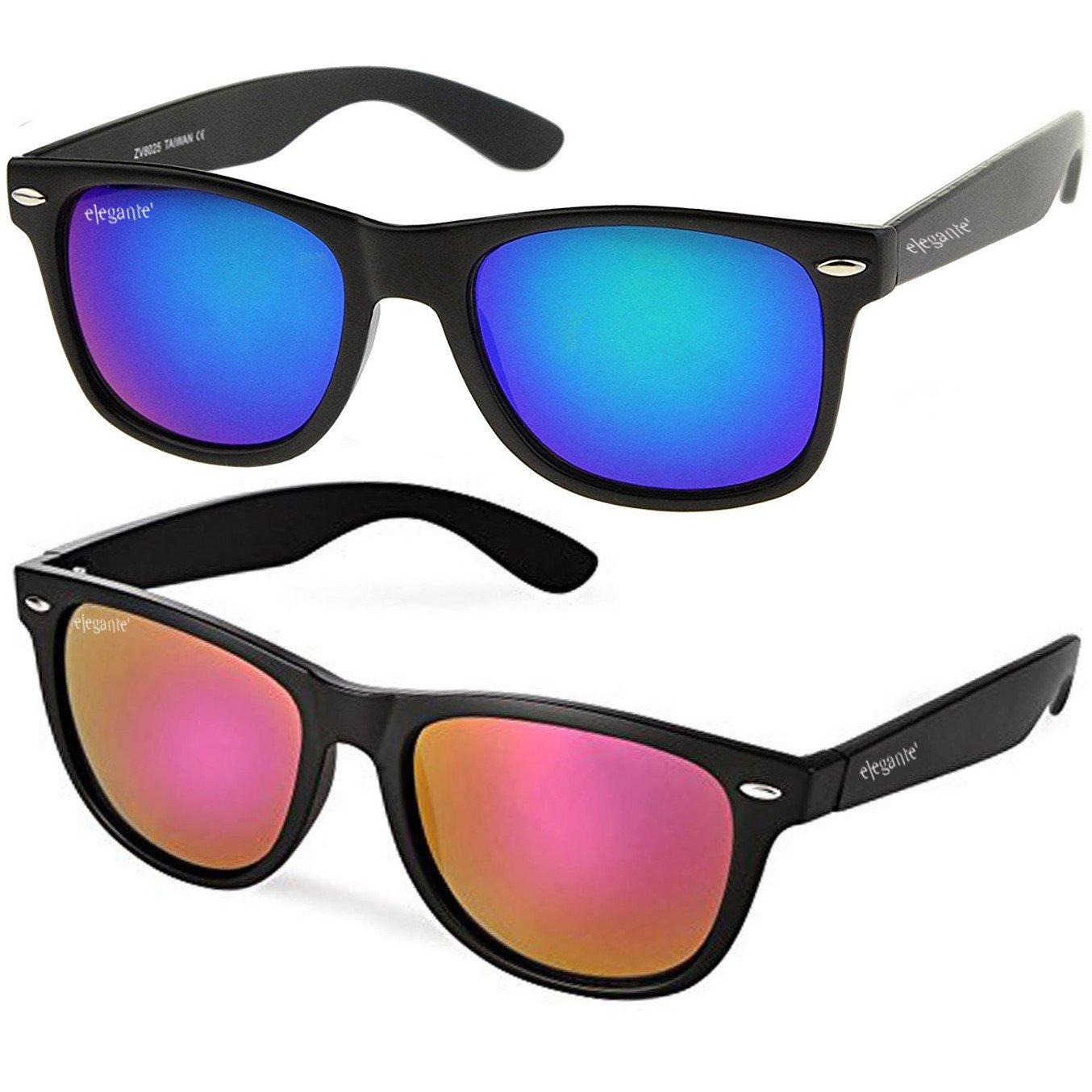 f31edd60c66 Elegante combo of uv protected purple blue mirrored wayfarer jpg 1354x1354 Mirrored  wayfarer sunglasses
