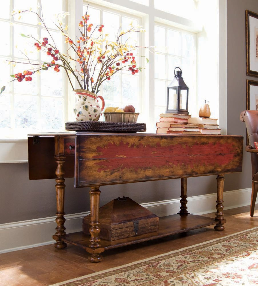 Amazoncom Hooker Furniture 97850001 Vicenza Drop Leaf Console
