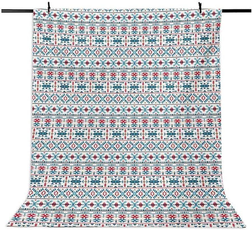 10x12 FT Backdrop Photographers,Native Traditional Art with Mexican Cultural Origins Geometric Borders Triangles Background for Photography Kids Adult Photo Booth Video Shoot Vinyl Studio Props