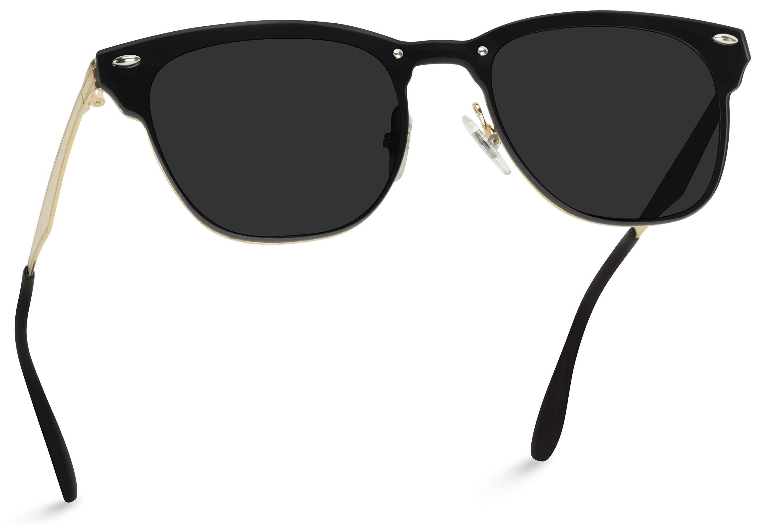 WearMe Pro - Full Mirror Lens Reflective Rimless Retro Sunglasses by WearMe Pro