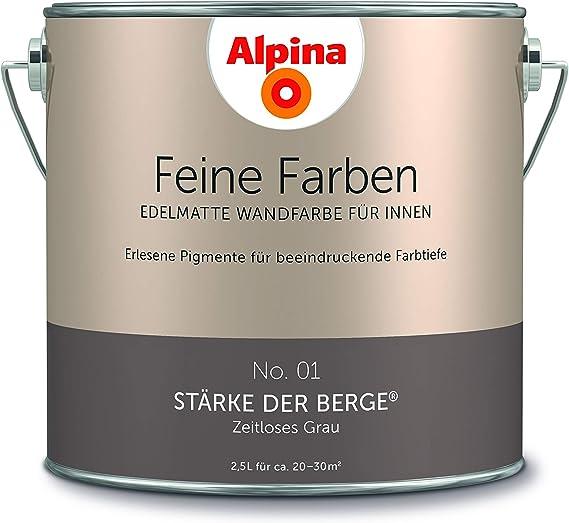 Alpina 2 5 L Feine Farben Farbwahl Edelmatte Wandfarbe Fur Innen No 1 Starke Der Berge Zeitlos Amazon De Baumarkt