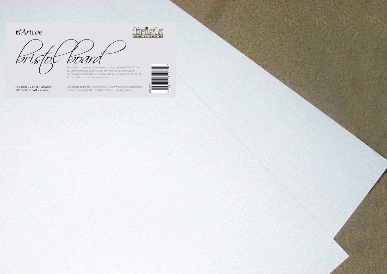 10 x Sheets Bristol Board 400gsm 450mm x 640mm