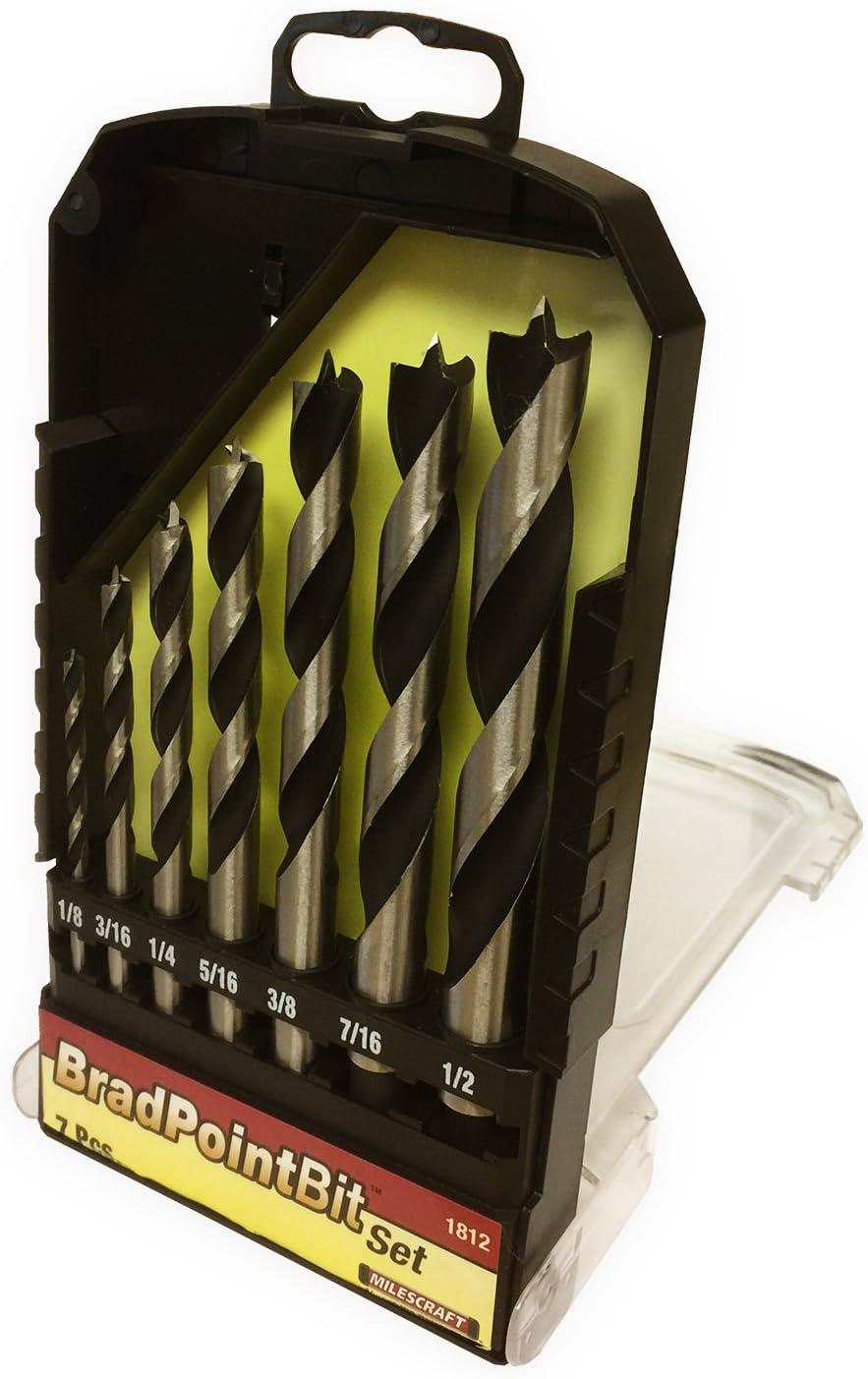 "7 Piece x 12/""//300mm LONG WOOD DRILL BIT SET IMPERIAL BRAD POINT 1//8/""-1//2/"""