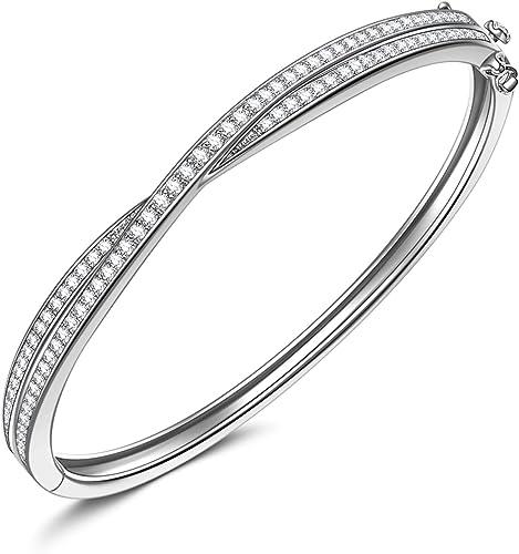 Sparkling Created Diamond Bracelet 18cm 7.08 inches