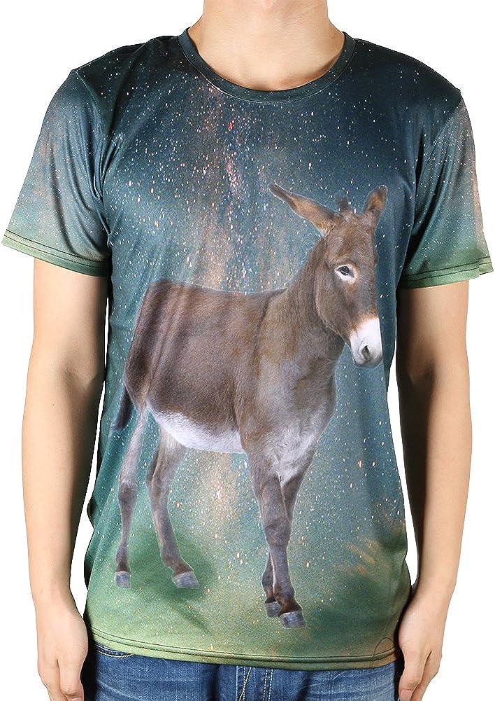 Cute 3d animal print la parte superior de los hombres camisas: Amazon.es: Ropa y accesorios