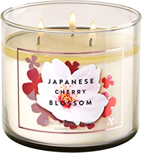 Bath and Body Works JAPANESE CHERRY BLOSSOM 3-Wick Candle 14.5 Ounce