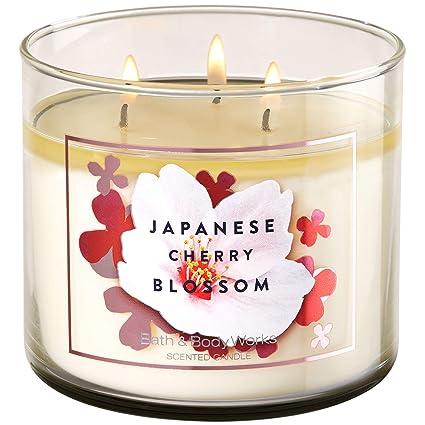 Amazon Com Bath And Body Works Japanese Cherry Blossom 3 Wick