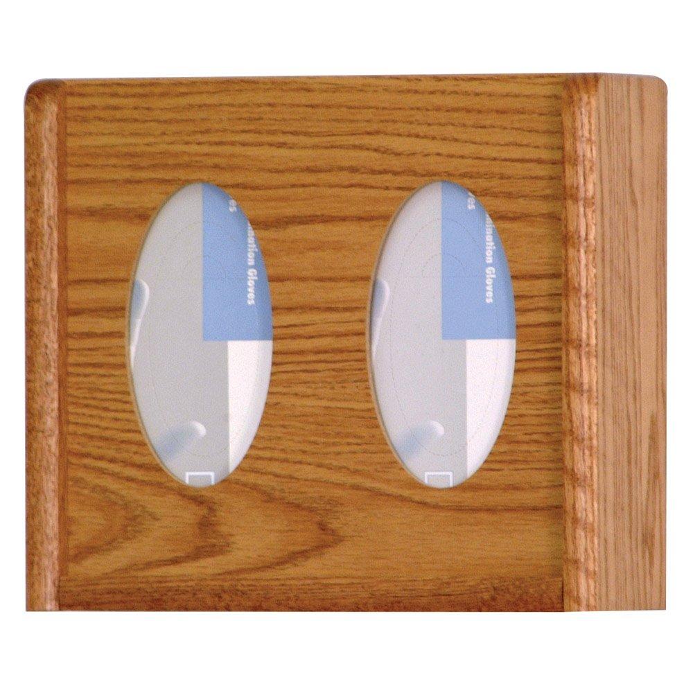 Wooden Mallet 3-Pocket Oval Glove/Tissue Box Holder, Light Oak