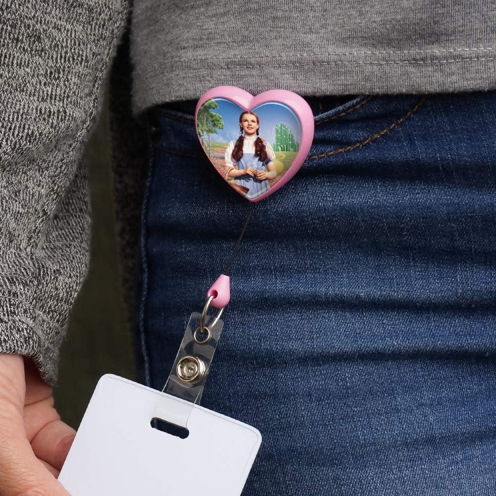 Wizard of Oz Dorothy Character Heart Lanyard Retractable Reel Badge ID Card Holder