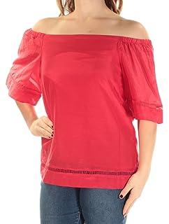 a2107f541c8e1a RALPH LAUREN Lauren Womens Frangia Off-The-Shoulder Shirt Blouse at ...