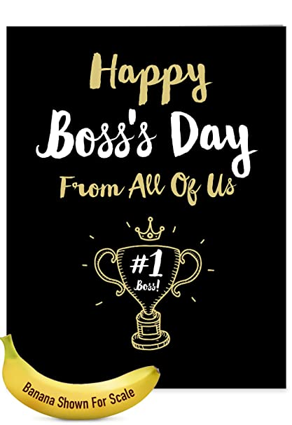 Amazon jumbo funny bosss day card from all of us happy jumbo funny bosss day card from all of us happy bosss day from all featuring m4hsunfo