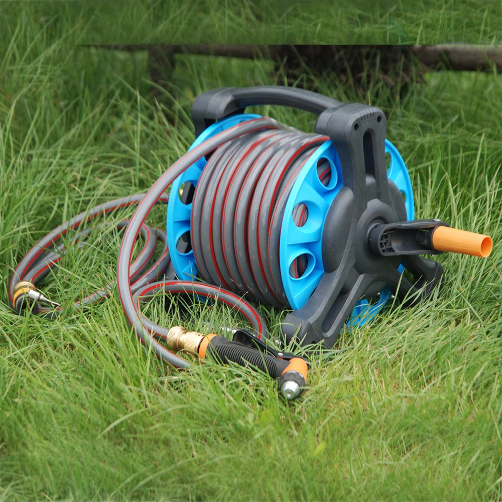 Amazon.com : Portable Garden Water Hose Reel Cart With Bracket ...