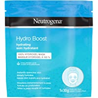 Neutrogena Hydro Boost Hydrating Face Sheet Mask, Beauty Face Mask with Hyaluronic Acid, 100% Hydrogel to deeply hydrate…