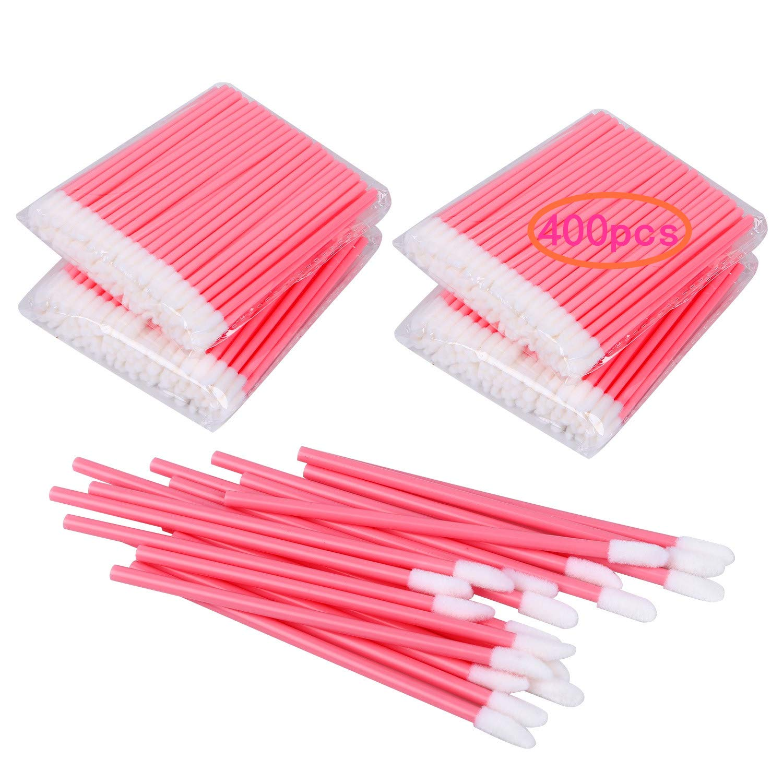 400PCS Disposable Lip Brushes Lip Gloss Applicators Make Up Brush Lipstick Lip Gloss Wands Makeup Applicators Brushes Applicator Tool Makeup Beauty Tool Kits Disposable Lip Brushes Tool Kits Pink