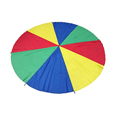 FixtureDisplays 12 Foot Play Parachute for Kids 8 Handles with Storage Bag Play Parachute for Kids Tent Picnic Mat Blanket 16877-NPF!: Office Products
